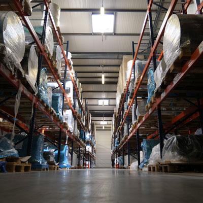 Entrepôt de stockage matières